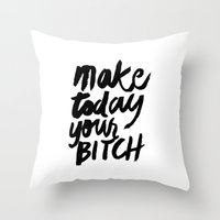 motivation Throw Pillows featuring Motivation by Motivational