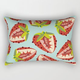 Strawberry Pattern Rectangular Pillow