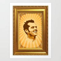 jack nicholson Art Prints featuring Nicholson by Durro