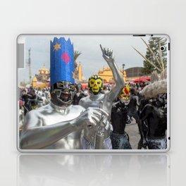 Silver Lucha Libre Laptop & iPad Skin