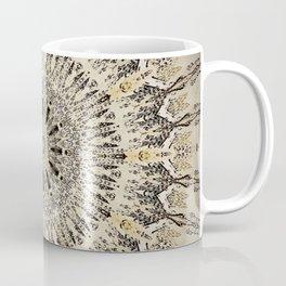 Vintage Feather Design Mandala Coffee Mug