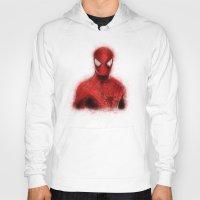 spider man Hoodies featuring Spider-Man by KitschyPopShop