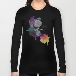 Skull flowers Long Sleeve T-shirt