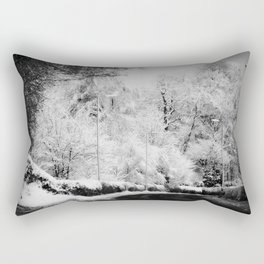 Snow Right Turn Rectangular Pillow