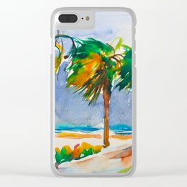 Tropical wind Clear iPhone Case
