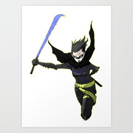 The Black Bat Art Print