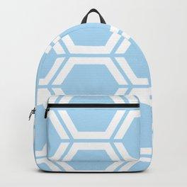 Uranian blue - heavenly - Geometric Polygon Pattern Backpack