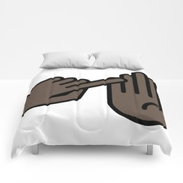Traverse City Michigan Hand Map Comforters