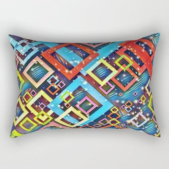 sparkling check pattern A Rectangular Pillow