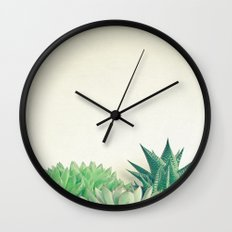 Succulent Forest Wall Clock
