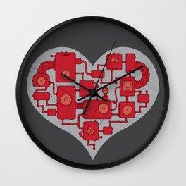 Steampunk machine heart Wall Clock