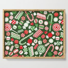Christmas Candy Traditional Serving Tray