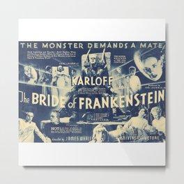 Bride of Frankenstein, vintage horror movie poster Metal Print