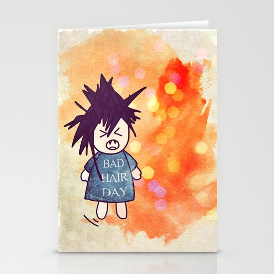 Bad Hair Day Stationery Cards