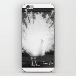 white peacock iPhone Skin