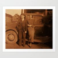 Vintage Brother and Sister 1920's Art Print