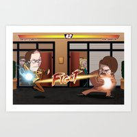 parks and rec Art Prints featuring Parks and Retaliation by DennisHart