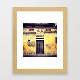 Hoi An Texture Walk Framed Art Print