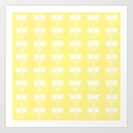 Canary Arts and Crafts Dragonflies Art Print