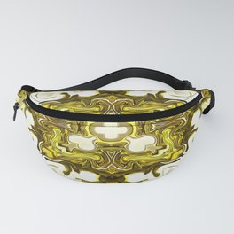 Pistachio Cake Green Yellow Gold White Brass Fanny Pack