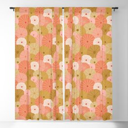 Sea Urchins in Coral + Gold Blackout Curtain