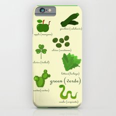 Colors: green (Los colores: verde) Slim Case iPhone 6s