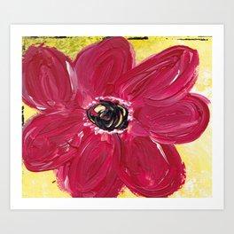 A BEE'S DELIGHT Art Print
