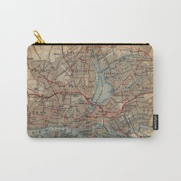 Vintage Hamburg Railway Map (1910) Carry-All Pouch