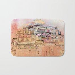 Rajasthan India Temple Sunrise Bath Mat