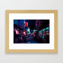 Late Night in Shinjuku's Golden Gai Framed Art Print