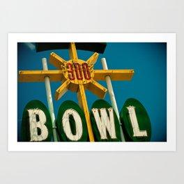 A Perfect Score - Vintage Bowling Alley Photograph Art Print