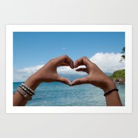 I Heart Maui Photo Print Art Print