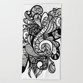 Let the music play! Beach Towel