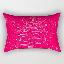 Pink Christmas tree Rectangular Pillow