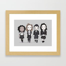 Plushie Witches Framed Art Print