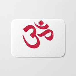 Om | The sound of creation - Hindu symbol, mantra, meditation and prayer Bath Mat