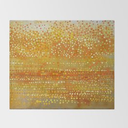 Landscape Dots - Orange Throw Blanket