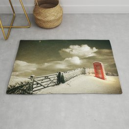 Winter in the Cotswolds, England Rug