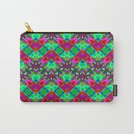 Stitched Vibrant Zigzags Carry-All Pouch
