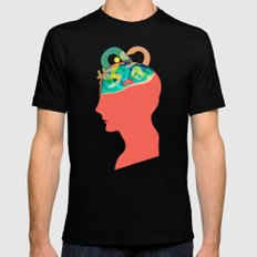 I can´t read your mind Mens Fitted Tee MEDIUM Black