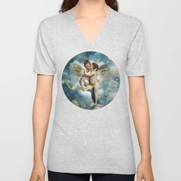"""""""Angels in love in heaven with butterflies"""" Unisex V-Neck"""