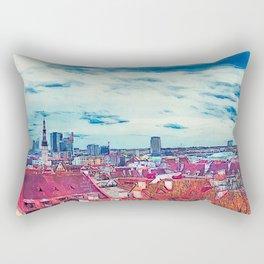 Tallinn art 8 #tallinn #city Rectangular Pillow
