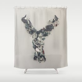 Letter Y in paint Shower Curtain