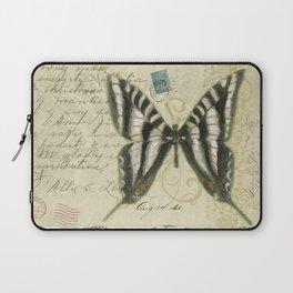 Zebra Butterfly Laptop Sleeve