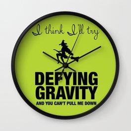 Defying Gravity - Wicked Broadway Wall Clock