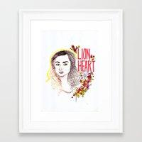 allison argent Framed Art Prints featuring Queen Argent by Grit Spit and a Whole Lot of Duct tape