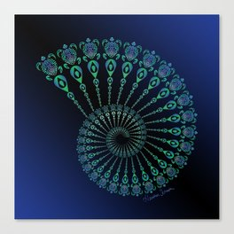 Spiral Tribal Turtle Shell Canvas Print