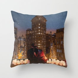 Flatiron Building Romance Throw Pillow