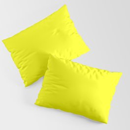 Bright Fluorescent Yellow Neon Pillow Sham