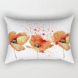 Three Poppies #society6 Rectangular Pillow